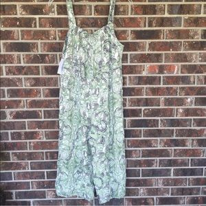 Guess Womens Green Leaf Jumpsuit